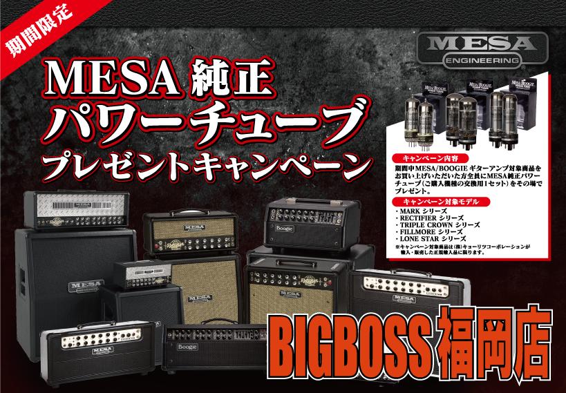 MESA/Boogie純正パワーチューブプレゼントキャンペーン