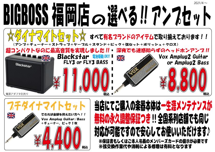 選べる!!ビギナーさん向けアンプセット!!