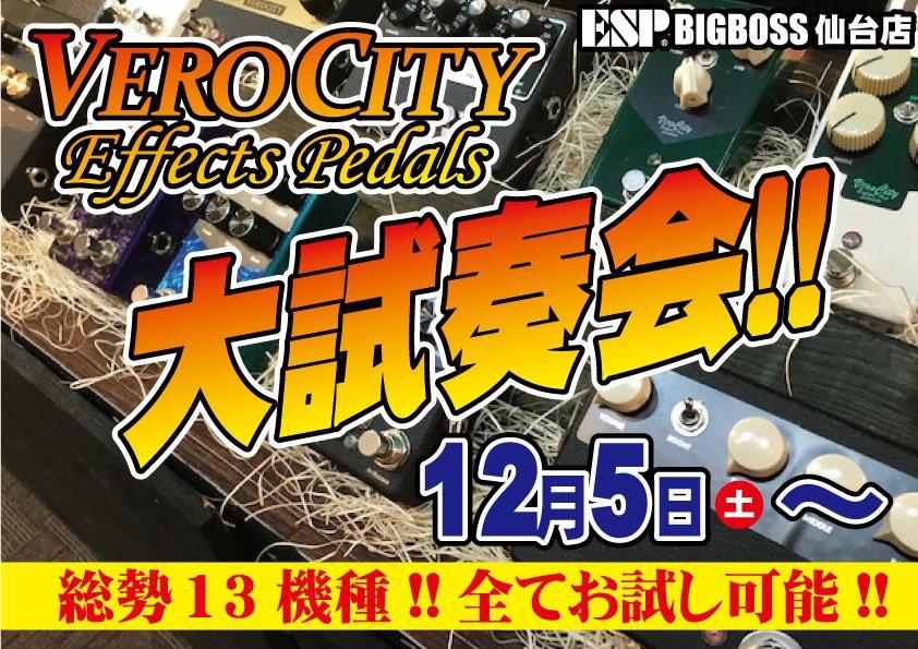 VEROCITY Effects Pedals 大試奏会!!