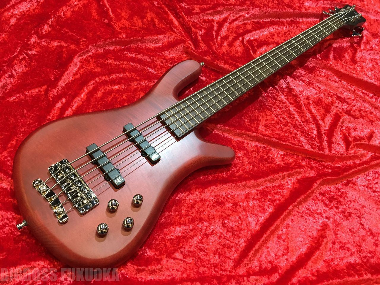 【ポイント10倍】【即納可能】Warwick Team Built Streamer LX5 OFC (Burgundy Red) 福岡店