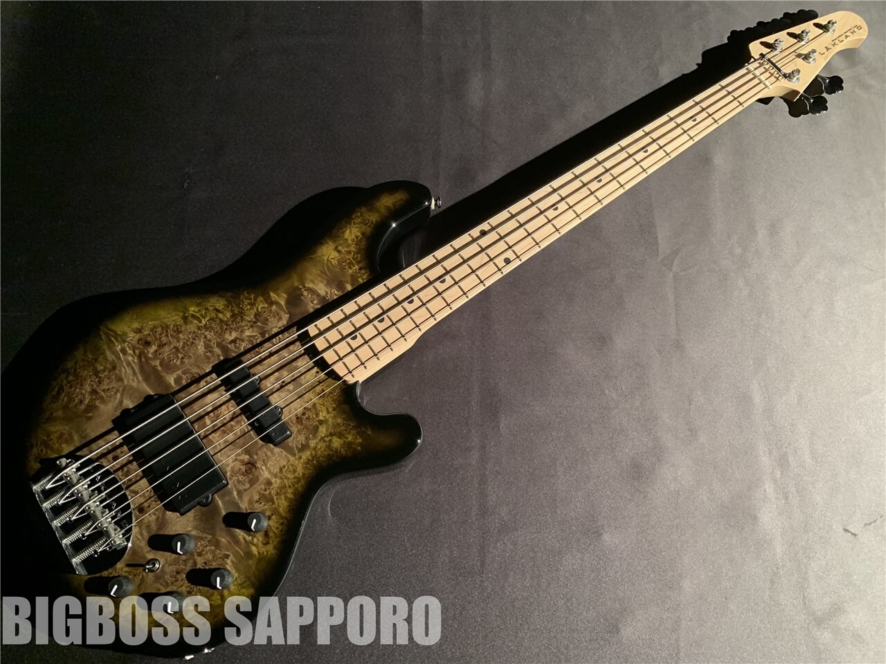 【即納可能】LAKLAND(レイクランド) SL55-94 Deluxe Poplar Burl (Dark Oak Green Sunburst / Maple FB) 札幌店