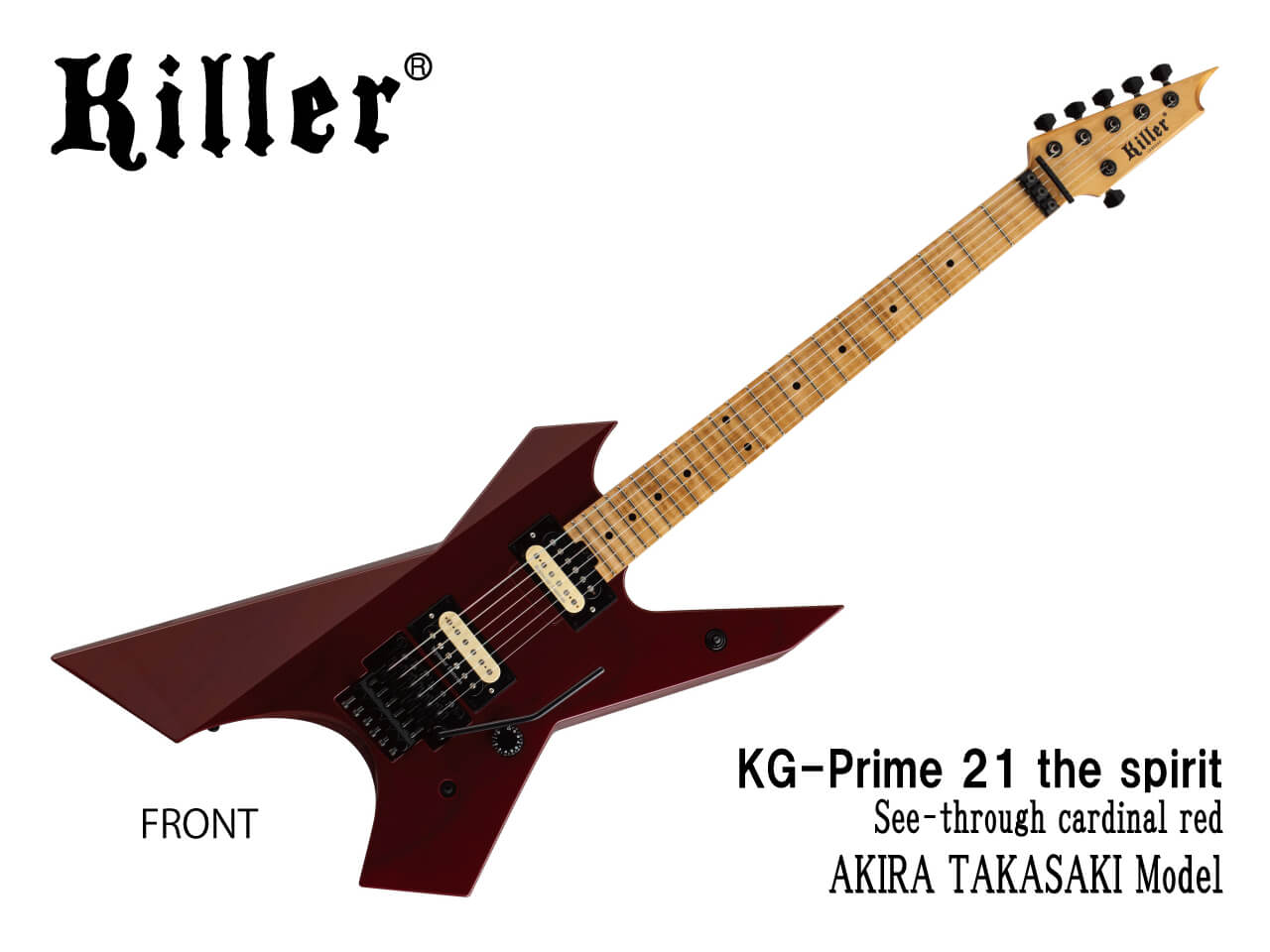 【受注生産】Killer(キラー) KG-Prime 21 the spirit / See-through cardinal red (LOUDNESS/高崎晃モデル)