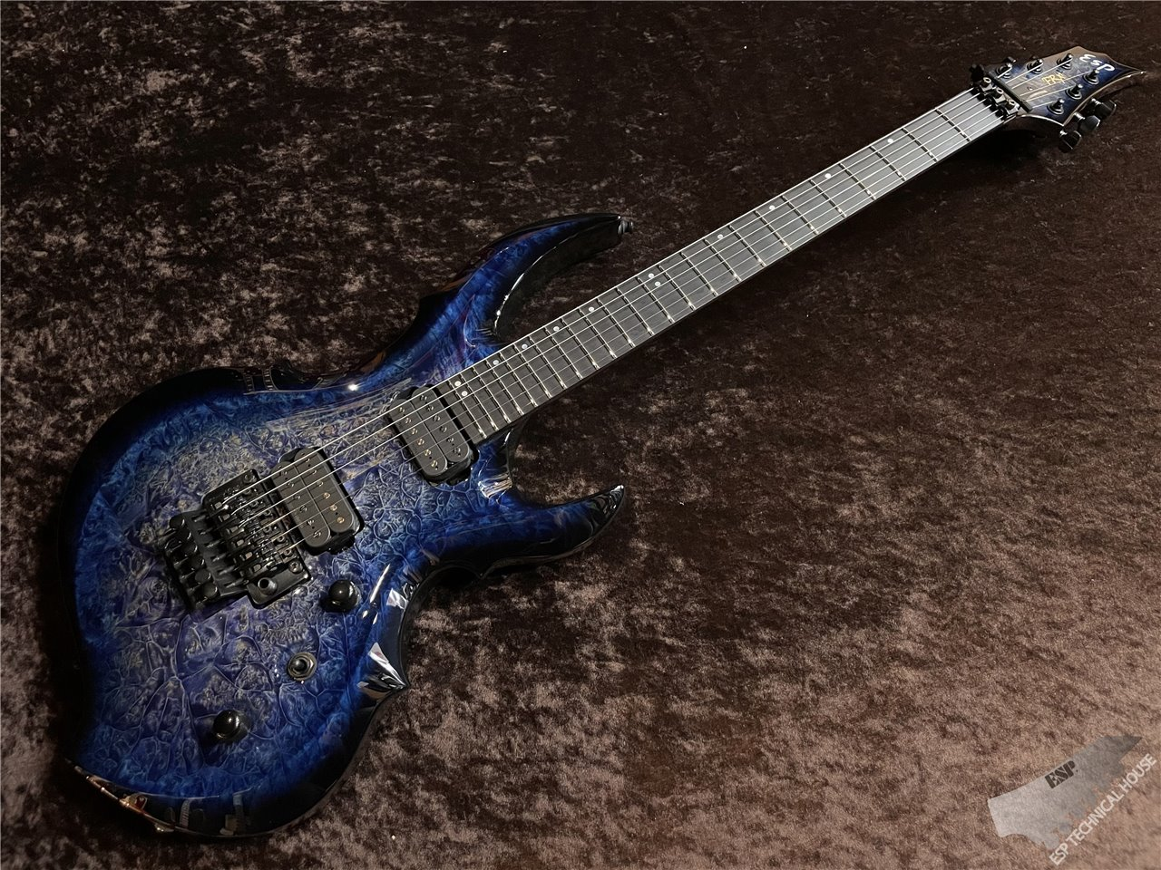 【即納可能】ESP(イーエスピー) FRX-CTM FR Burled Maple【Mercury Blue Burst】 茶水店
