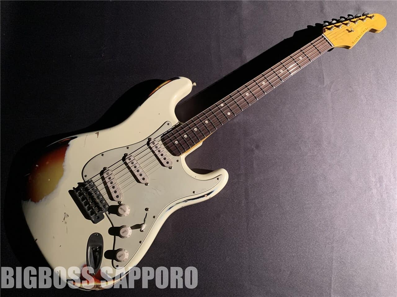 【即納可能】Nash Guitars(ナッシュギターズ) S63 (OlympicWhite over 3Tone Sunburst) 札幌店