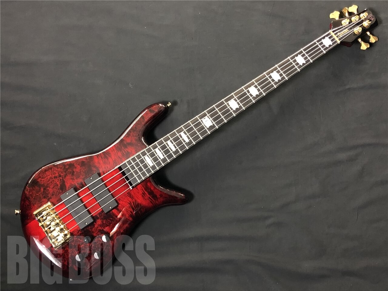 【即納可能】SPECTOR EURO 5 LT Poplar Burl Limited (Red Fade Gloss) #NB16229