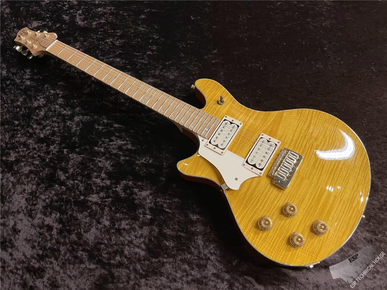 【即納可能/中古品】ESP(イーエスピー) ESP ORDER POTBELLY-TR L/H【FLAME MAPLE TOP】茶水店