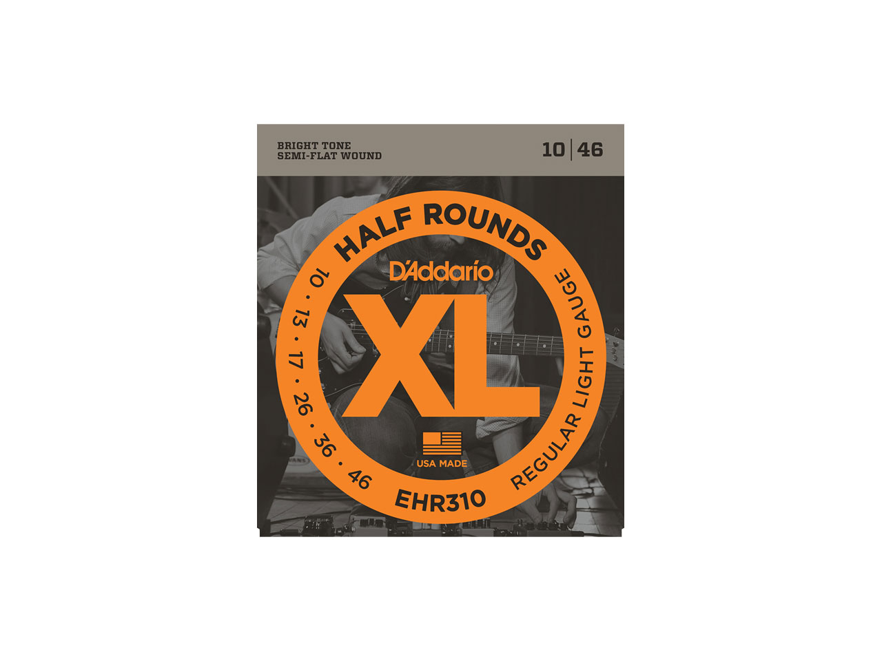 D'Addario(ダダリオ) XL Half Rounds Regular Light / EHR310 (エレキギター弦)
