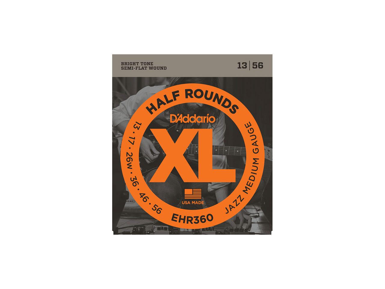 D'Addario(ダダリオ) XL Half Rounds Jazz Medium / EHR360