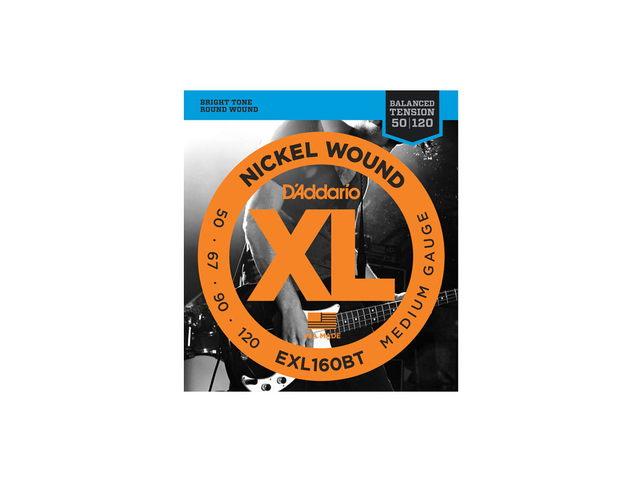 D'Addario(ダダリオ) XL Nickel Round Wound ,Long Scale , Balanced Tension Medium / EXL160BT (エレキベース弦)