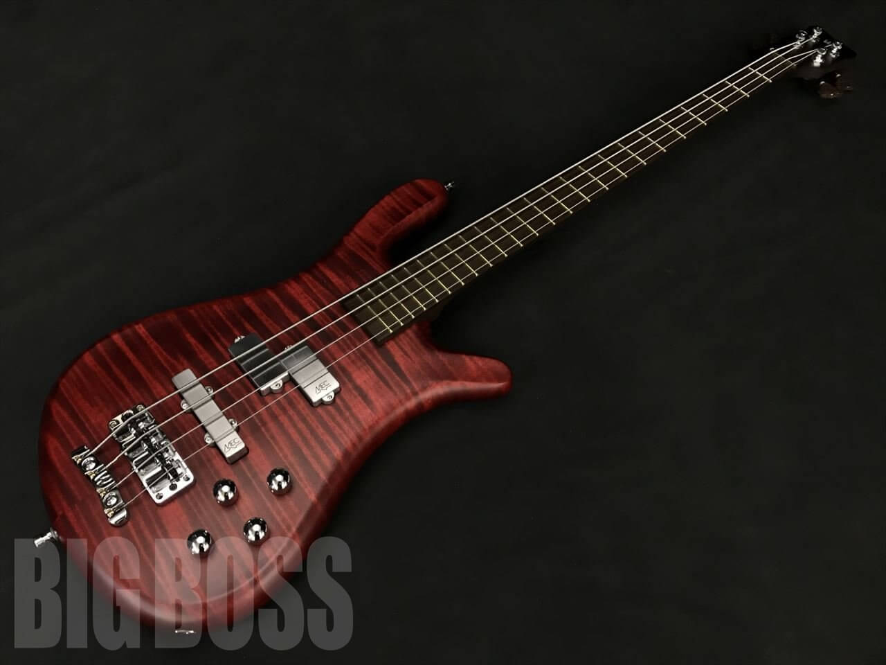 【即納可能】Warwick(ワーウィック) Custom Shop Streamer LX 4 (Burgundy Red Transparent Satin) 駅前店