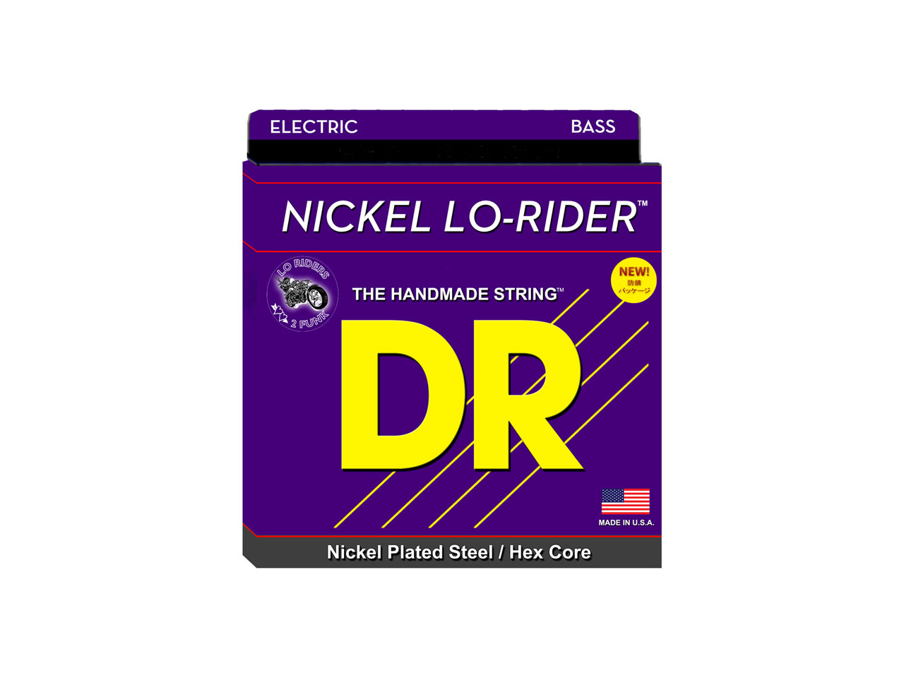DR Strings NICKEL LO-RIDERS MEDIUM-LITE (NMLH-45)