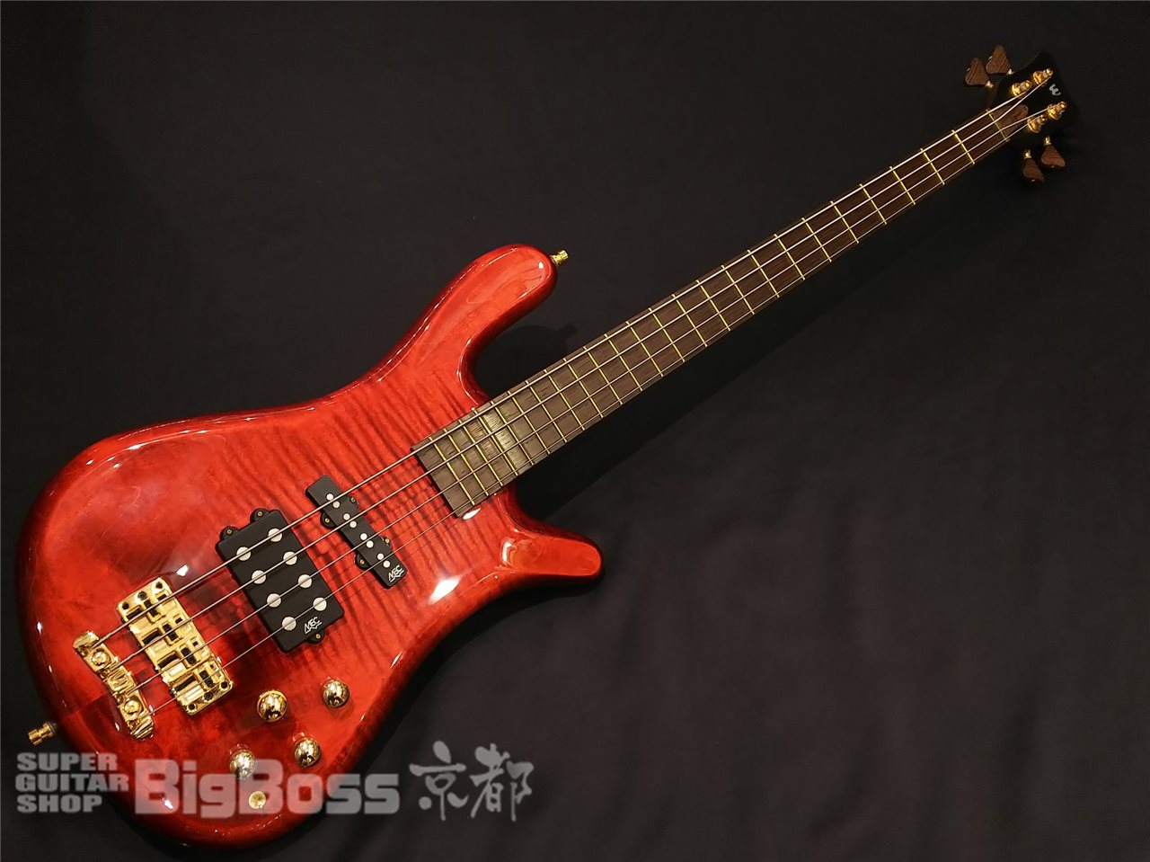 【即納可能】Warwick (ワーウィック) Custom Shop Streamer Jazzman WW SHIP G / Burgundy Red Transparent High Polish Maple 京都店