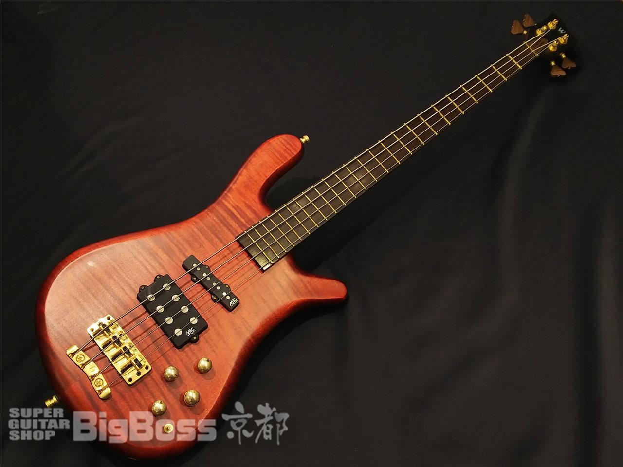 【即納可能】Warwick(ワーウィック) Custom Shop Streamer Jazzman WW SHIP G / Burgundy Red Transparent Satin Maple