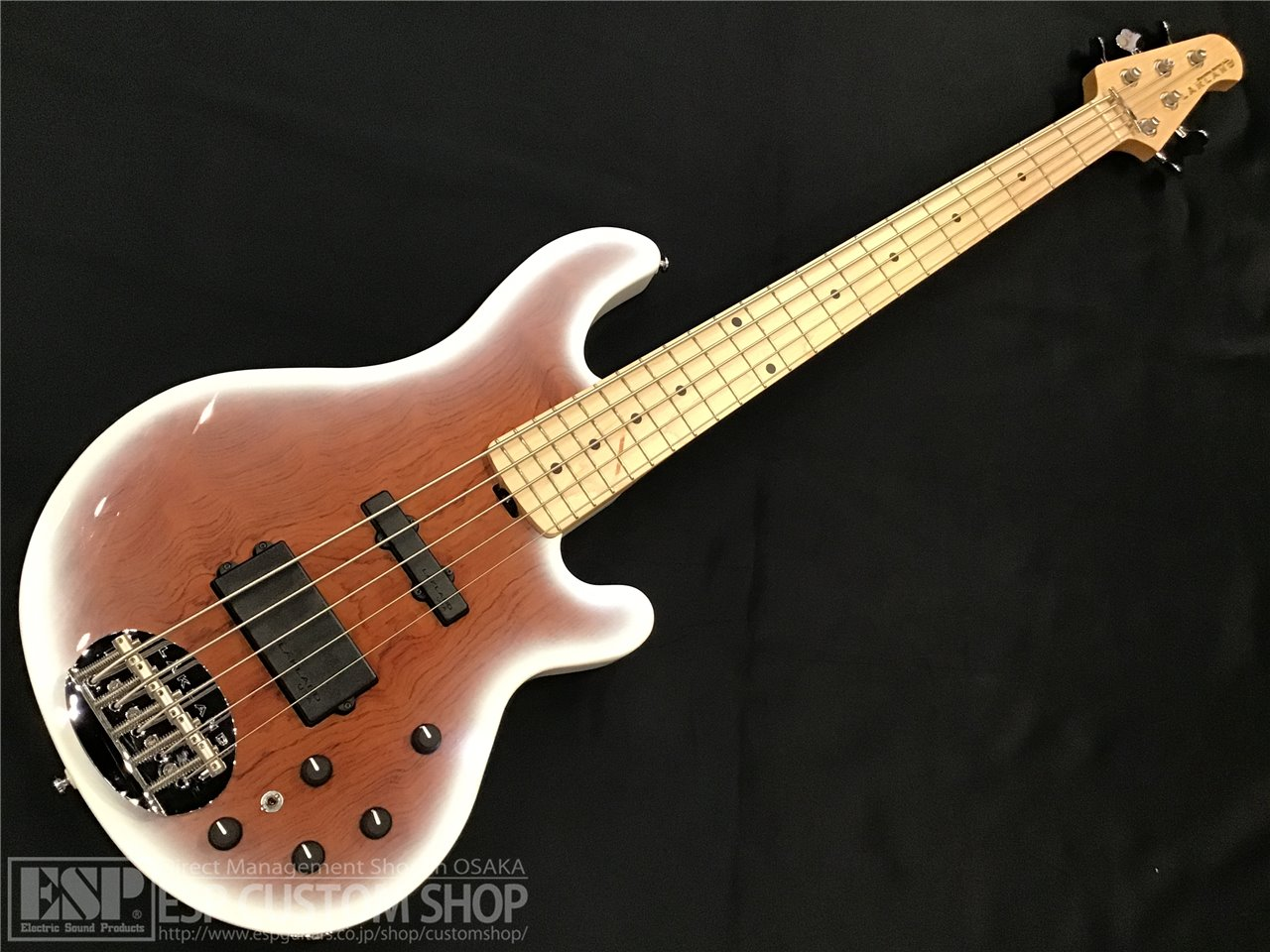 【即納可能】Lakland SL55-94 Deluxe Bubinga / Snow White Sunburst/Maple FB 大阪店