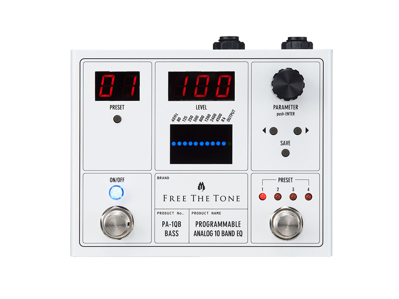 Free The Tone(フリーザトーン) PROGRAMMABLE ANALOG 10 BAND EQ PA-1QB (ベース用イコライザー)