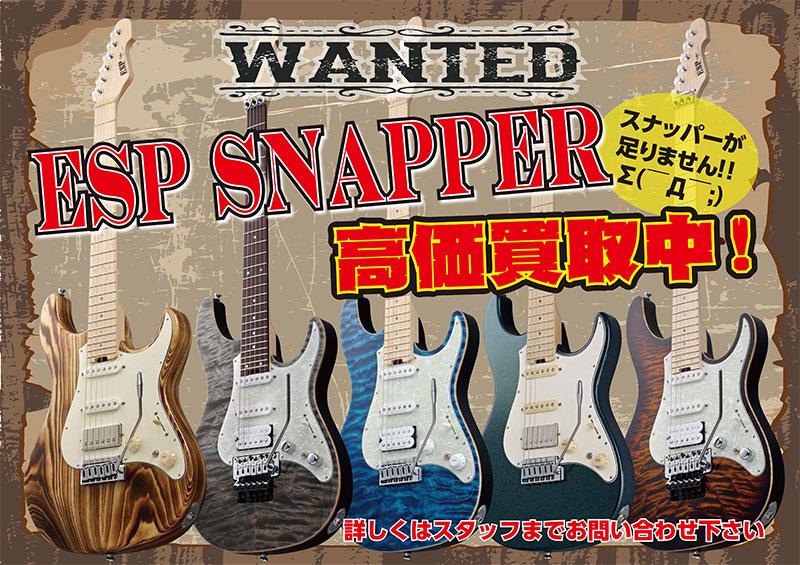 ESP SNAPPER高価買取中!